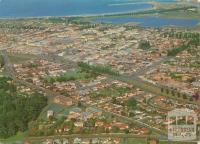 Warrnambool aerial view, 1976