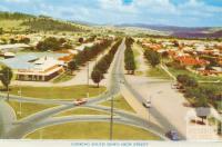 Looking south down High Street, Wodonga, 1965