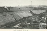 Coal dredges in open cut, Yallourn