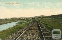 Yarra Glen from Railway, 1905