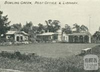 Bowling Green, Post Office and Library, Yea