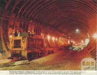 Parliament Station, under construction 1971-82