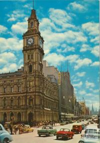 Bourke Street with Elizabeth Street Post Office, Melbourne