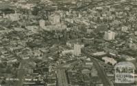Melbourne from the air, 1957