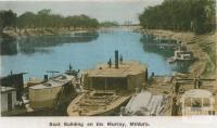 Boat building on the Murray, Mildura