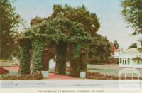 The Entrance to the Botanical Gardens, Ballarat, 1958