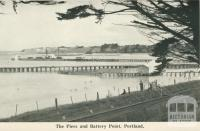 The piers and Battery Point, Portland