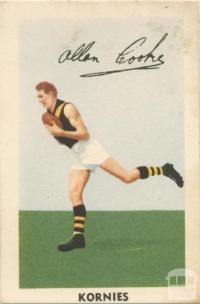 Allan Cooke, Richmond Football Club, Kornies Card