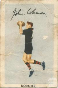John Coleman, Essendon Football Club, Kornies Card