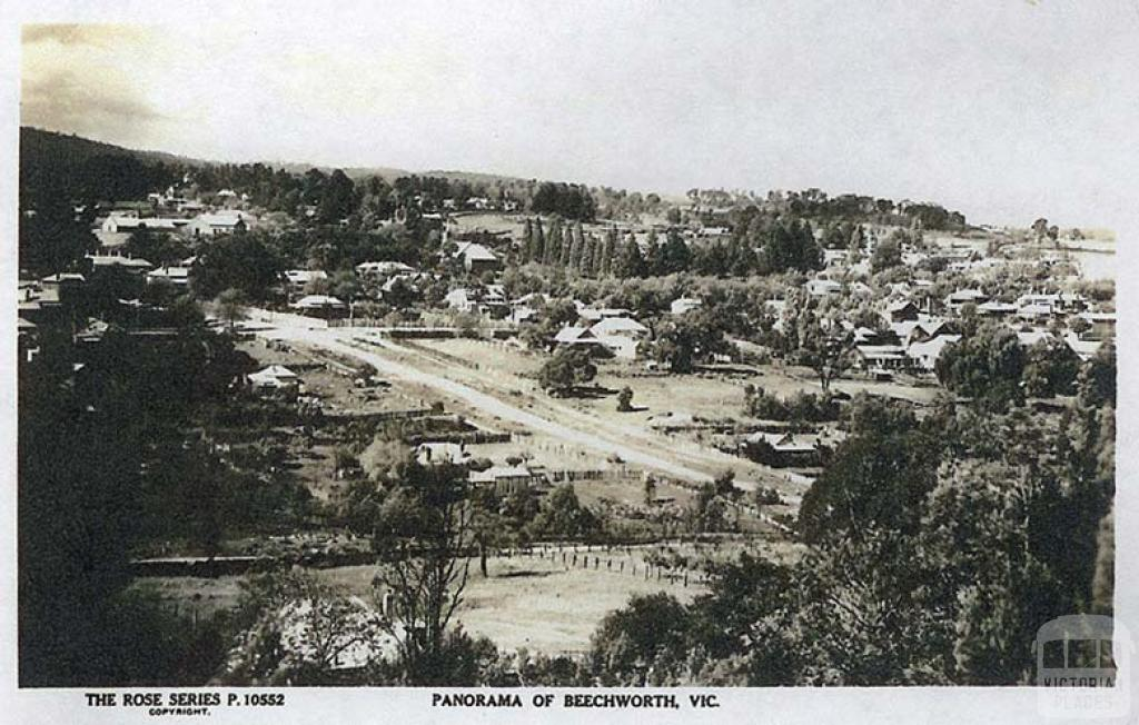Panorama of Beechworth, c1910