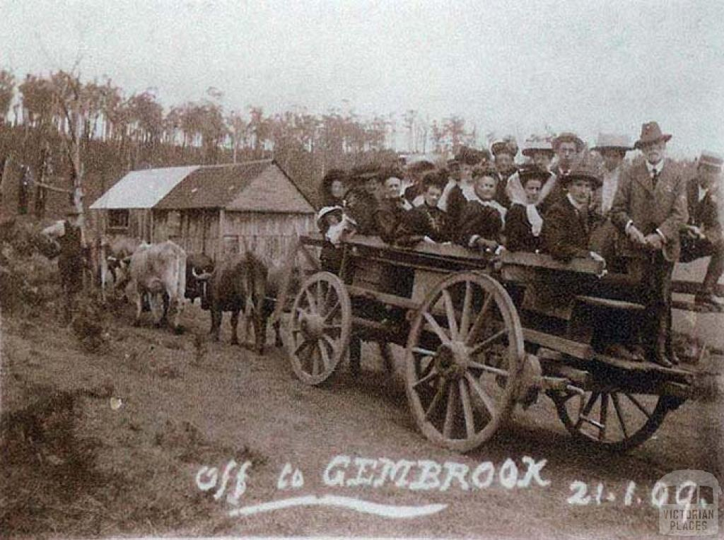 New Year picnic party, Gembrook, 1909