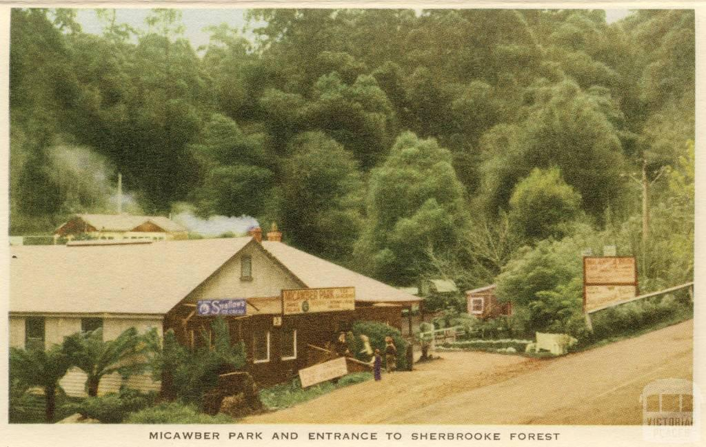 Micawber Park and entrance to Sherbrooke Forest