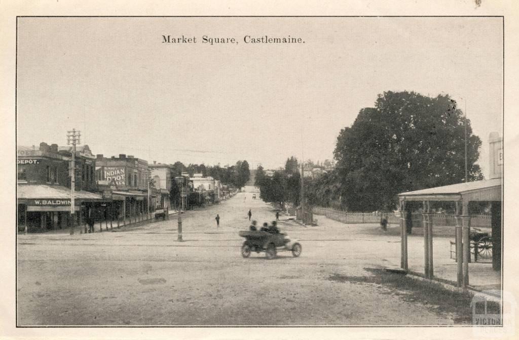 Market Square, Castlemaine, 1915