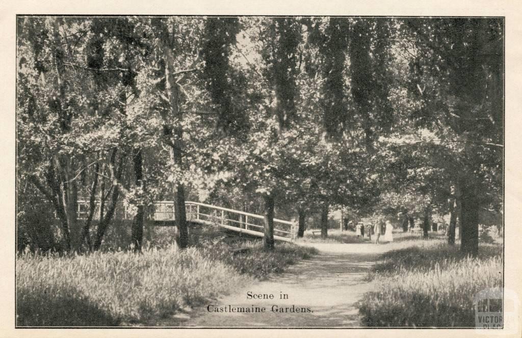 Scene in Castlemaine Gardens, 1915