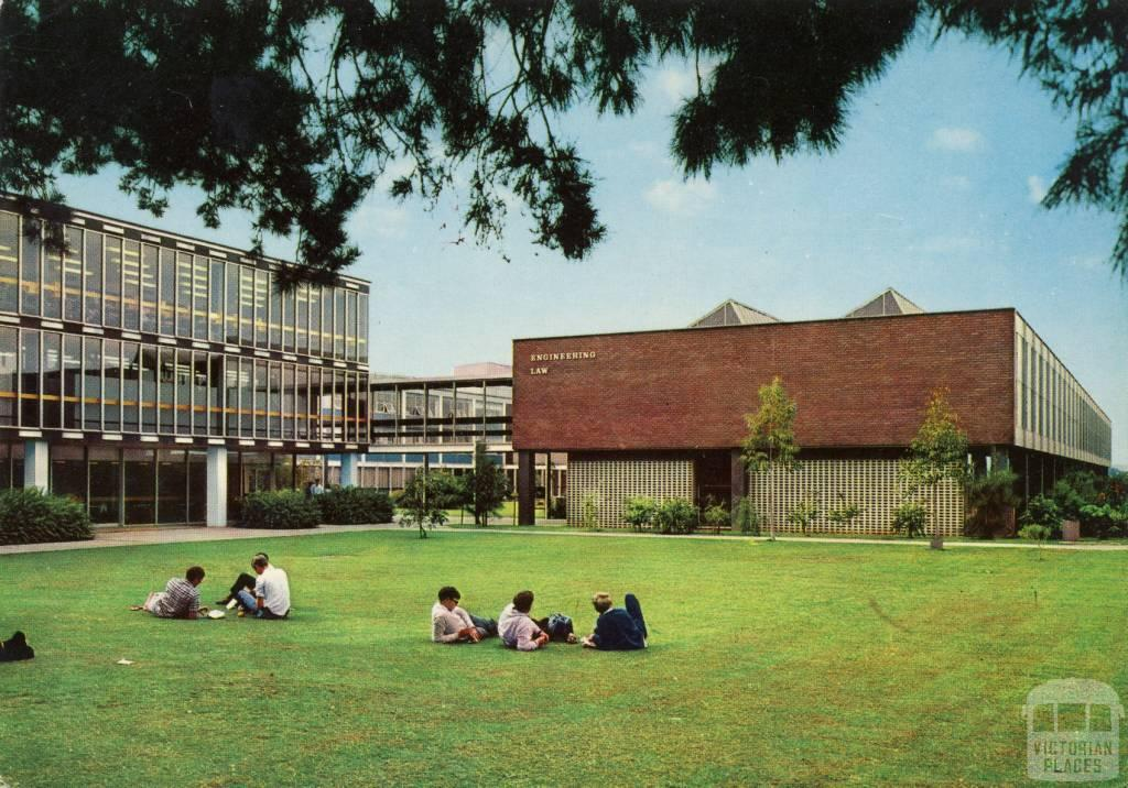 Monash University. Hargrave Library, Law and Engineering Buildings. Wellington R