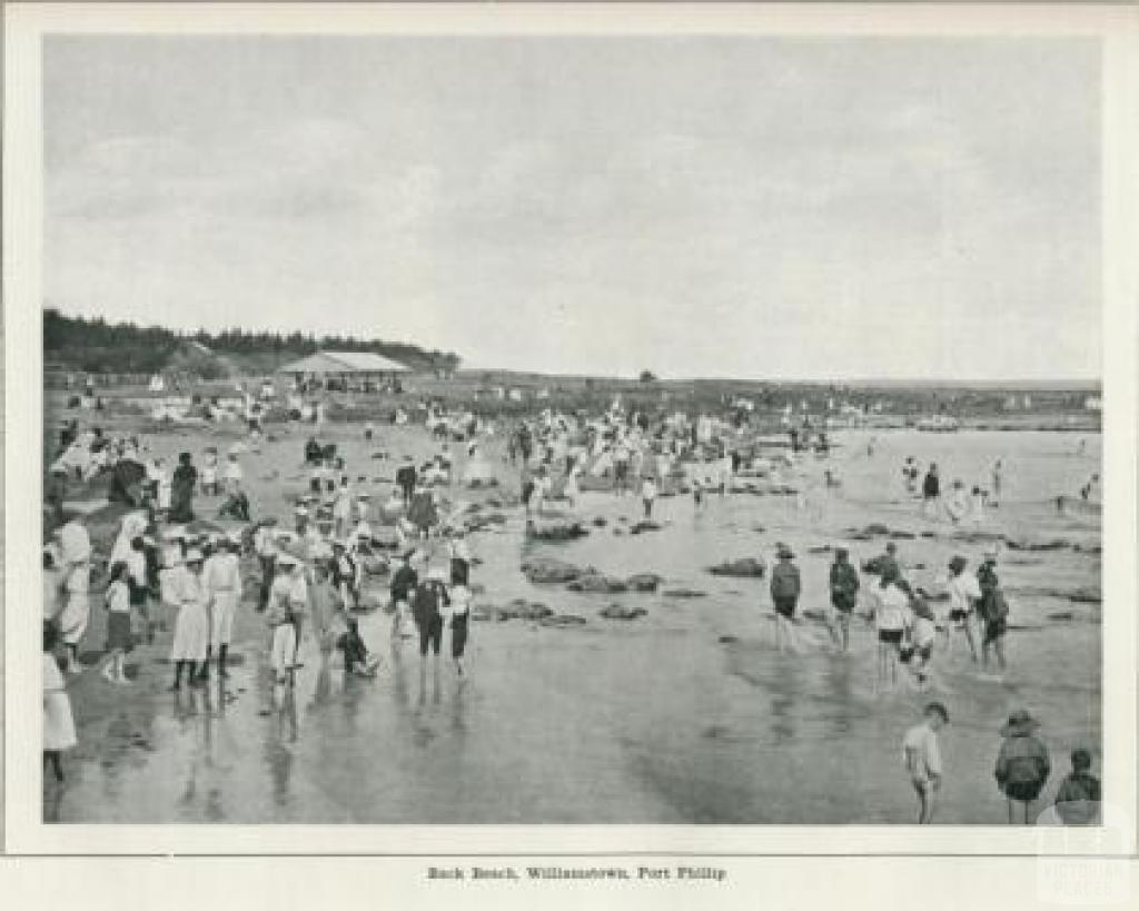 Back Beach, Williamstown, Port Phillip, 1918
