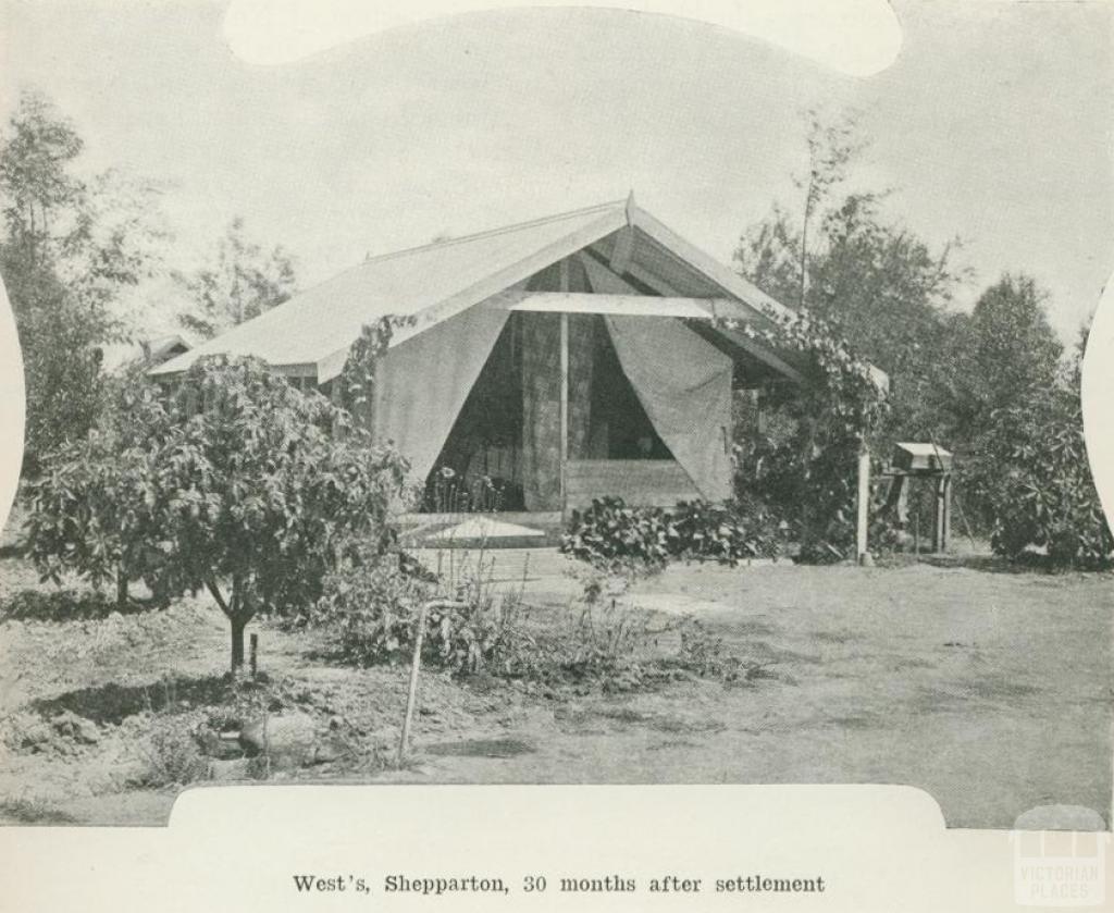 West's, Shepparton, 30 months after settlement, 1918