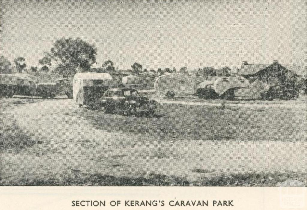 Section of Kerang's Caravan Park, 1950
