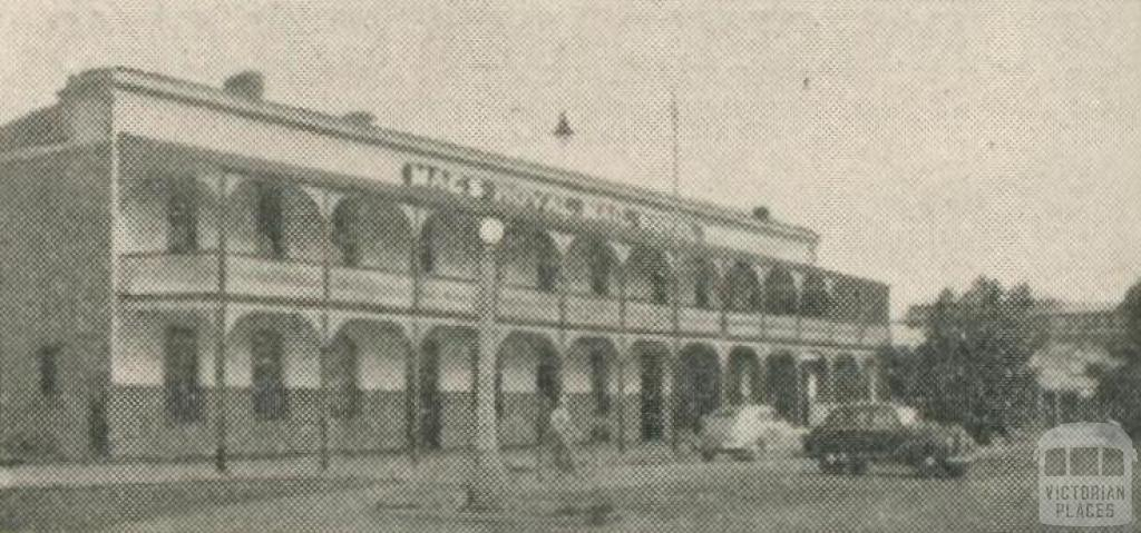 Royal Mail Hotel, Warracknabeal, 1950