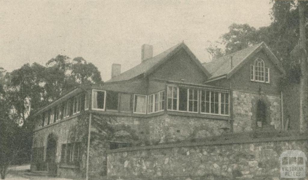 Fearne Lodge, Mount Macedon, 1947-48