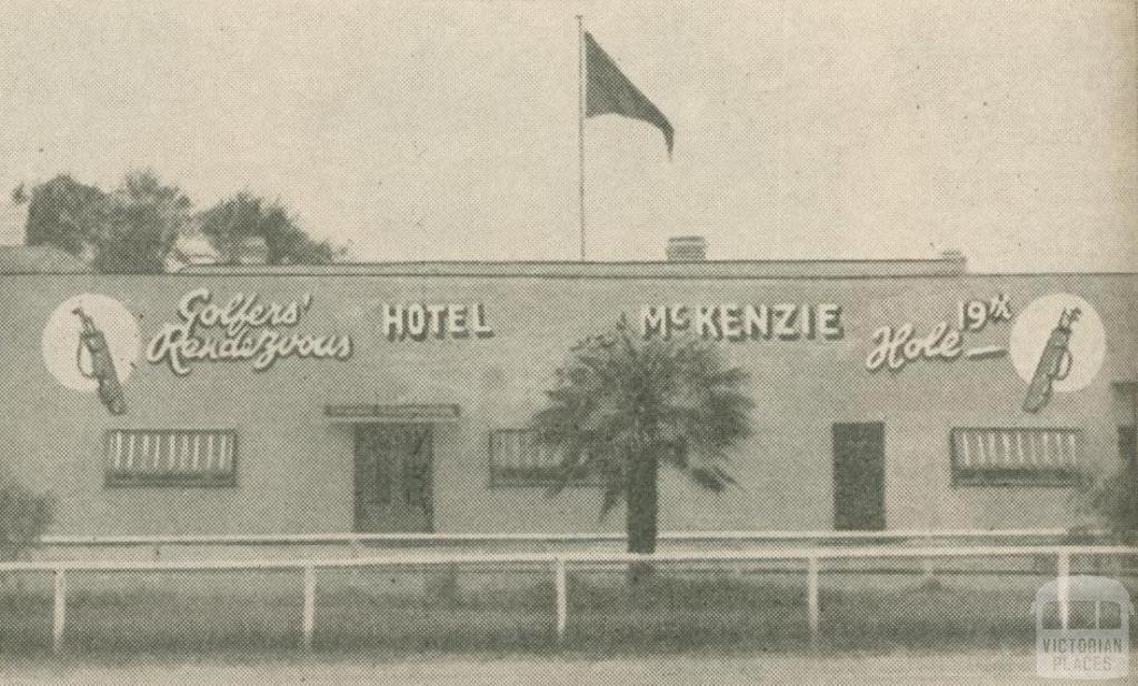 Hotel McKenzie Golf House, Woodend, 1947-48