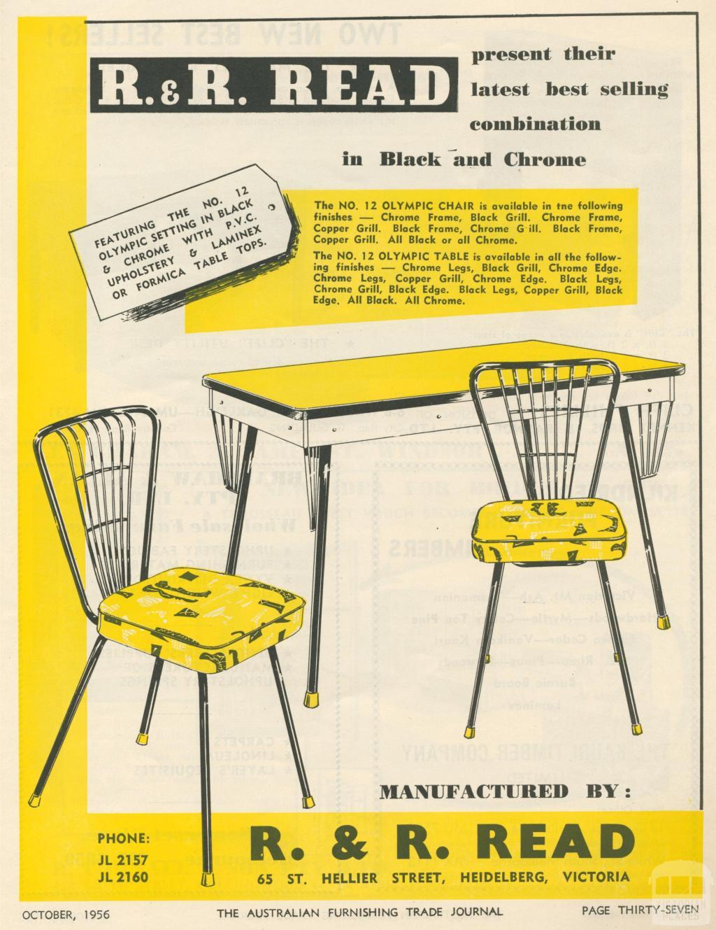 R. & R. Read, Heidelberg, 1956