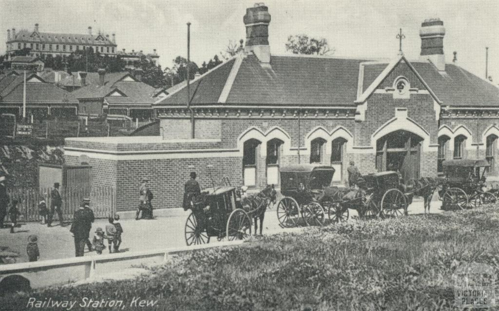 Kew Railway Station in the early 1900s