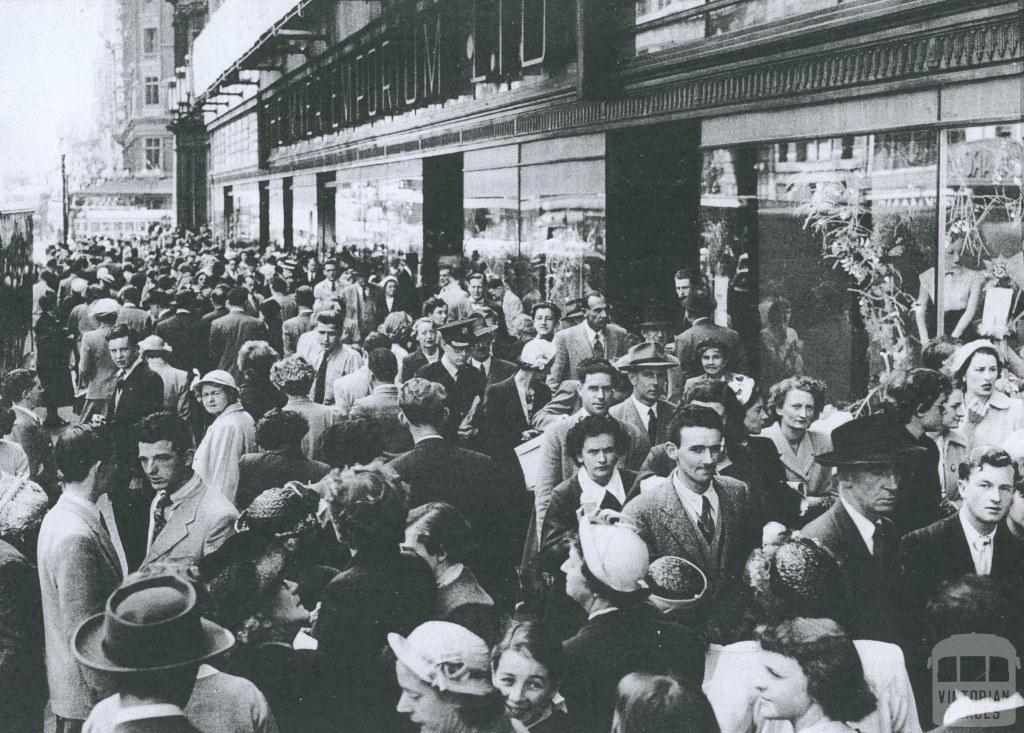 Myers, Bourke Street, 1953