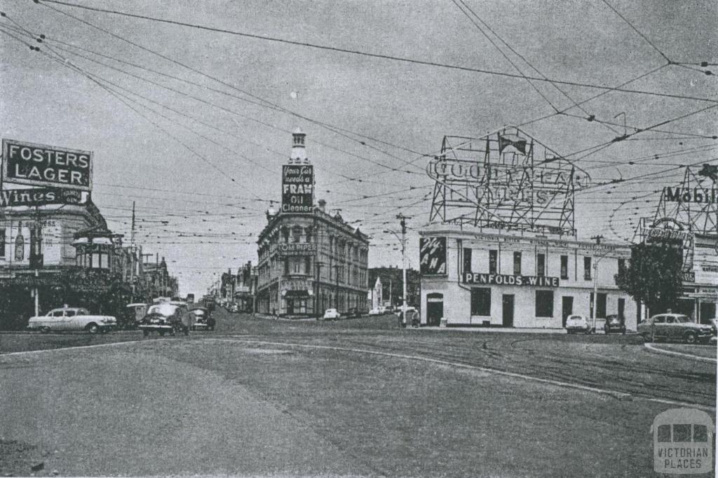 St Kilda Junction, 1957
