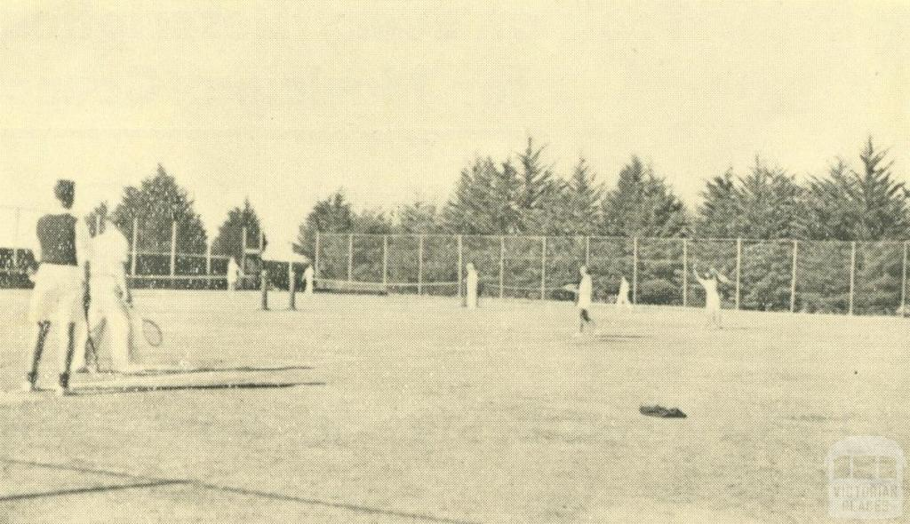 Patterson River Golf Links, Tennis Courts, Bonbeach, 1938