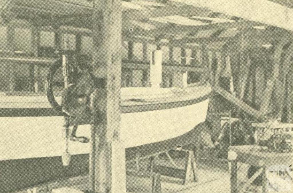 Allnutt Boat Builders, William Street, Mordialloc, 1938