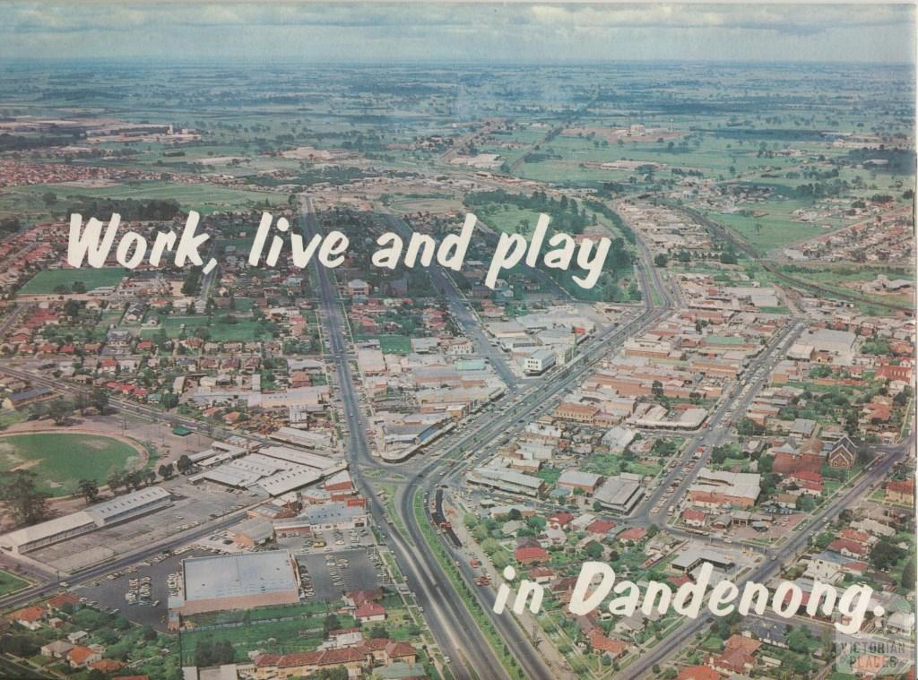 View south from the Princes Highway, Dandenong, 1964