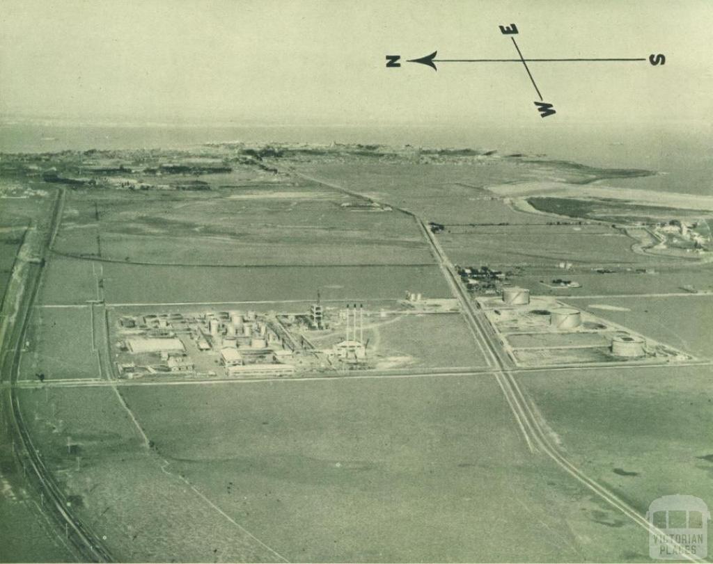Aerial view of the Altona Refinery, 1949