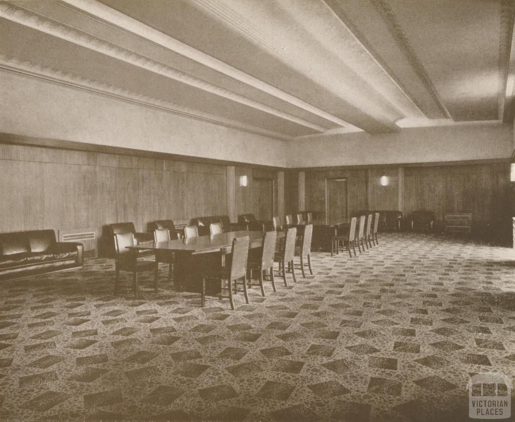 Town Hall, Reception Room, Ivanhoe, 1937