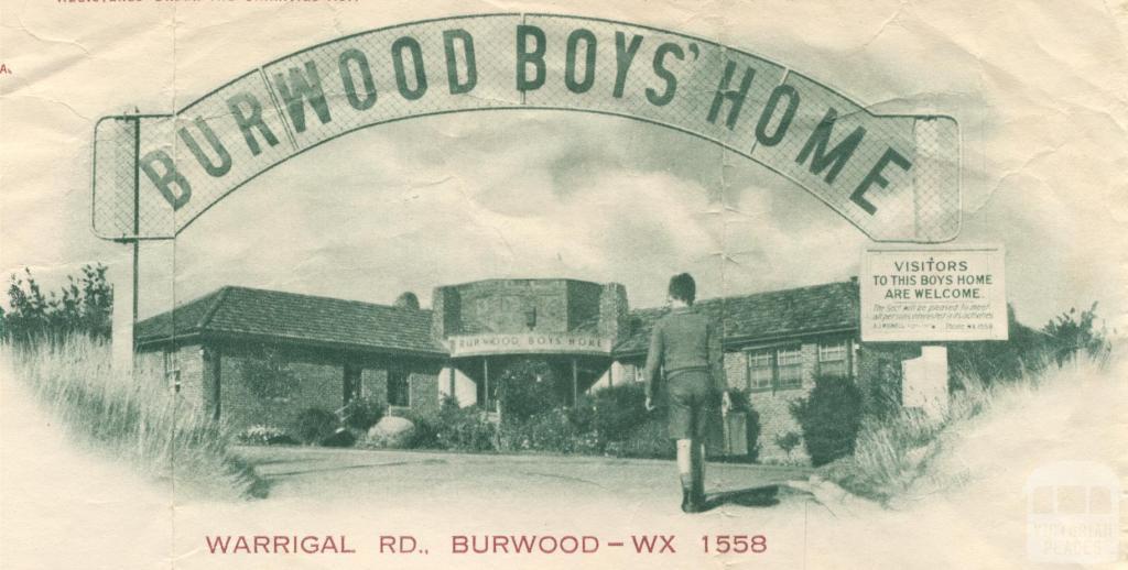 Burwood Boys' Home, 1954