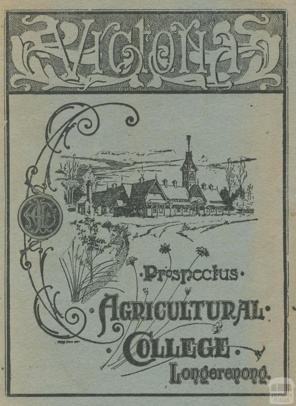 Prospectus Longerenong Agricultural College and Farm, 1929