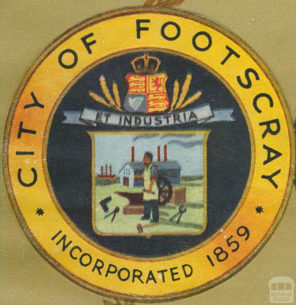 City of Footscray Crest, 1947