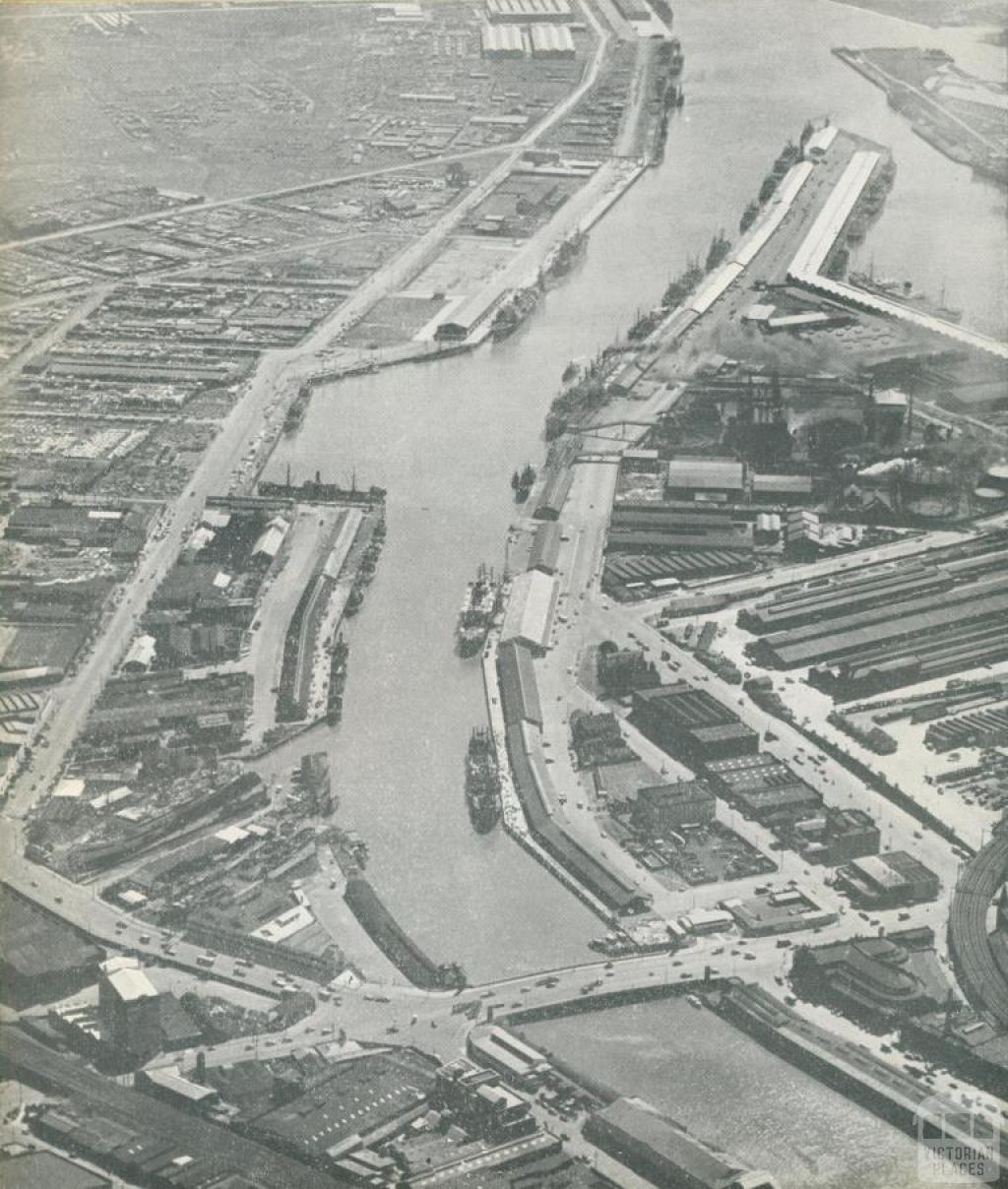 River Yarra, Port of Melbourne, 1947