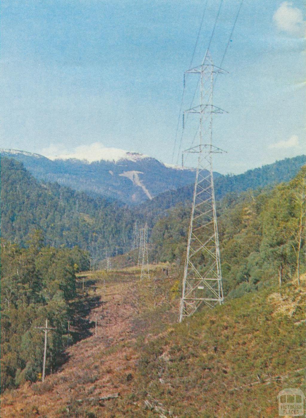 Powerline from McKay Creek Station, 1971