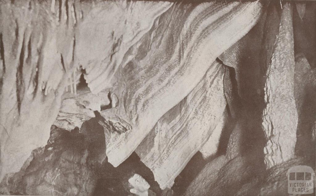 Blanket formation in the Fairy Cave, Buchan, 1934