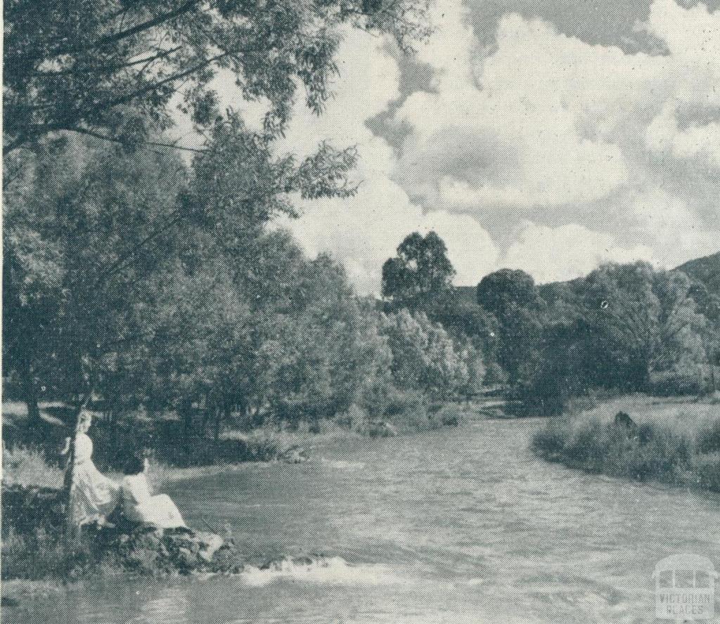 Riverside walks, Bright, 1951