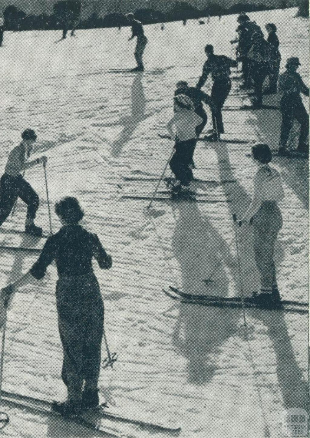 Skiing, Mount Buffalo National Park, 1951