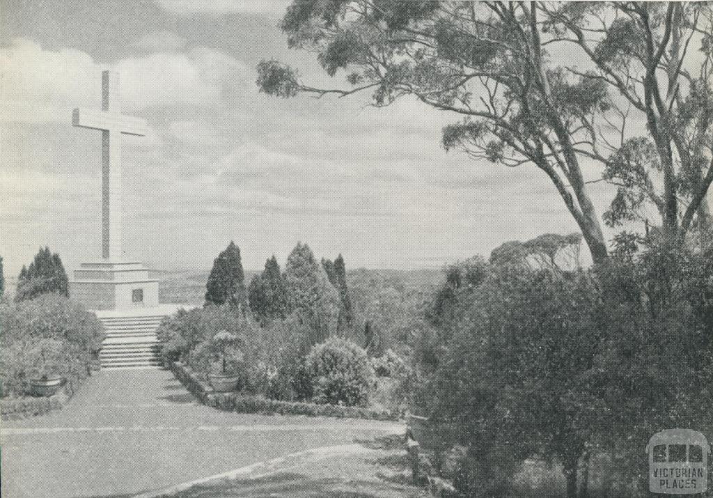 Memorial Cross, Mount Macedon, 1959