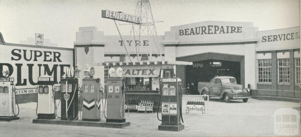 Beaurepaire Tyres, Bendigo Branch, 1947