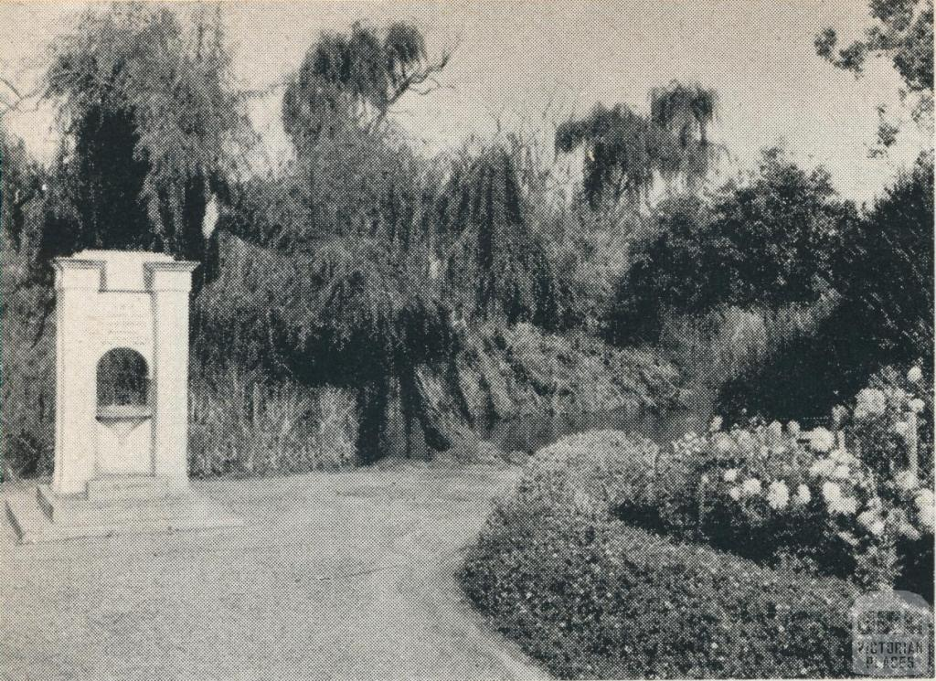 Gardens and Lake, Phillips Island, Maryborough, 1961