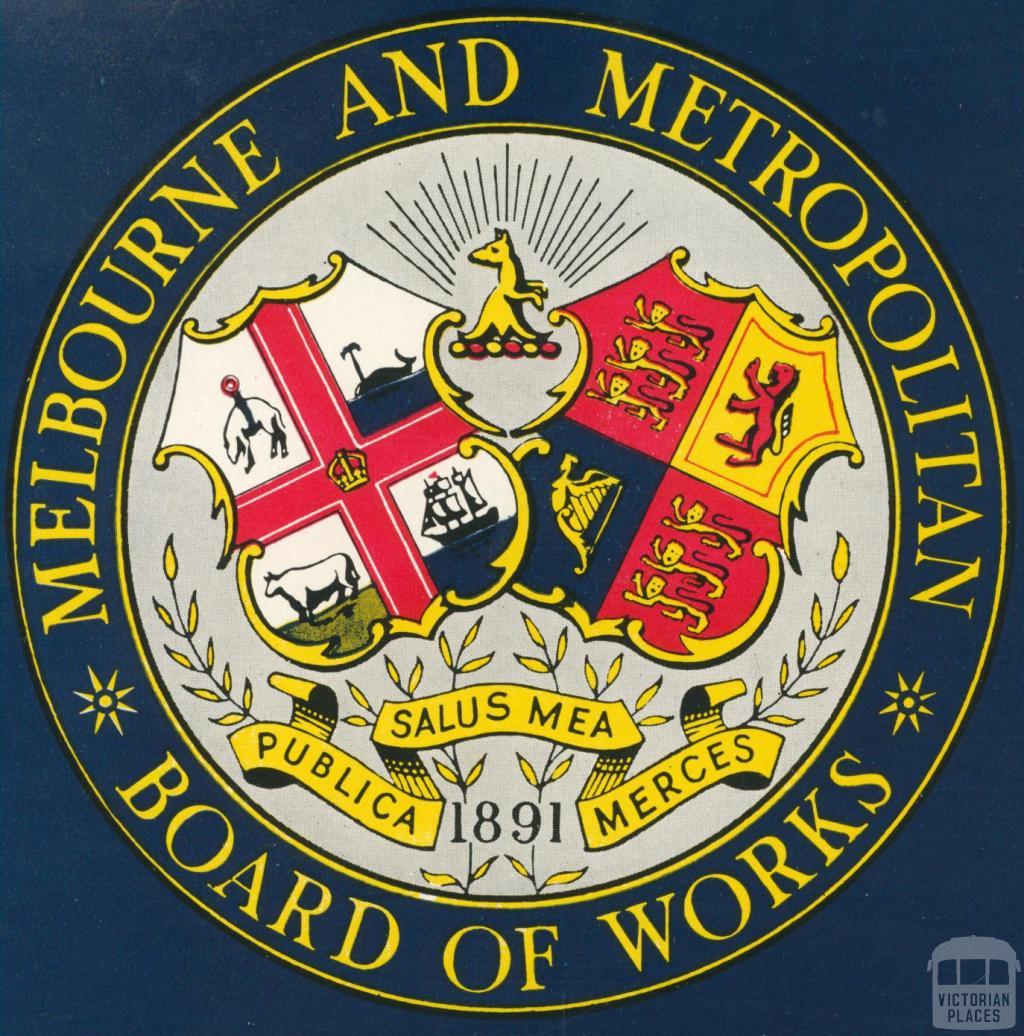 Melbourne and Metropolitan Board of Works Crest, 1955