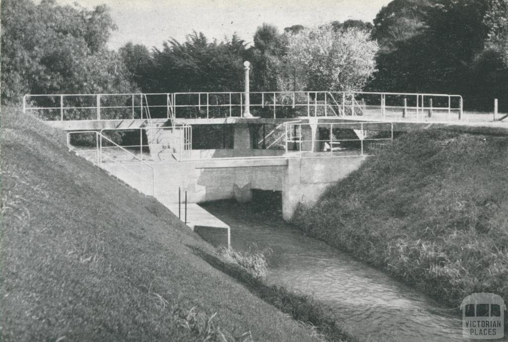Control Gates on Outfall Sewer at Metropolitan Farm, Werribee, 1955