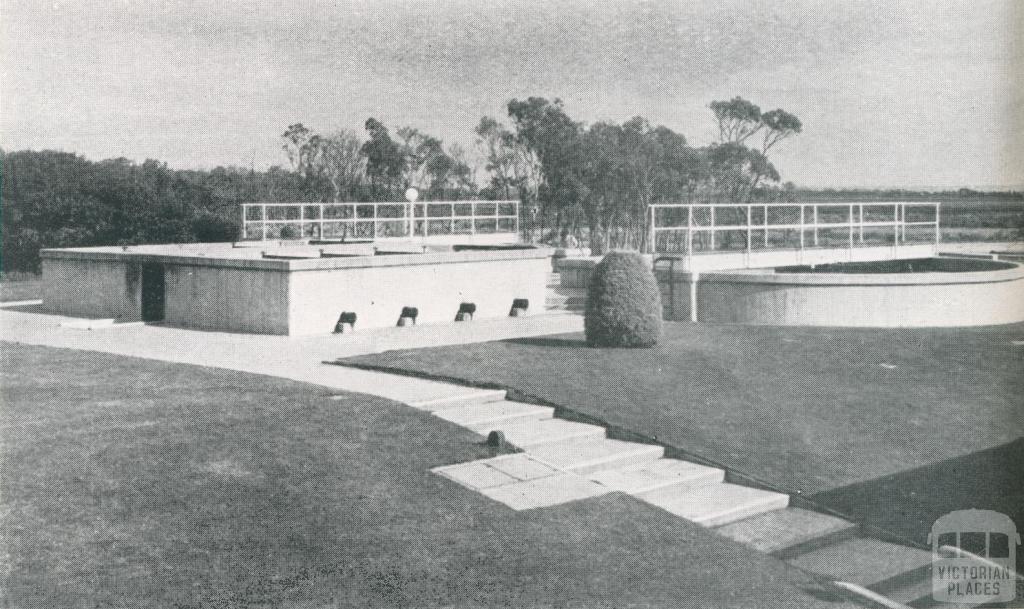 Sedimentation Tanks at Braeside Treatment Works, 1956
