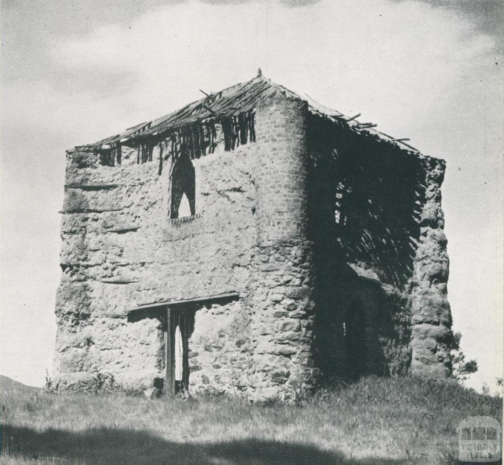 Bear's Castle, a relic of Victoria's pioneering days, Yan Yean, 1956