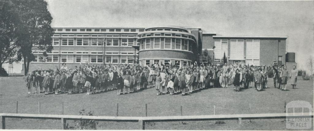 Primary and secondary school, Timboon, 1958